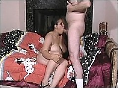 Huge lady gets her pussy licked and hardcore sex
