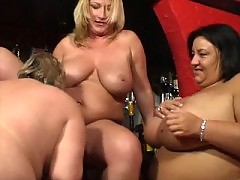 Three sexy big girls licking each other